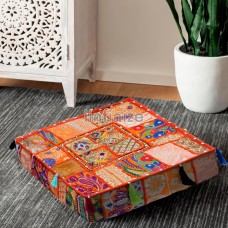 Neon Orange Floor Box Cushion