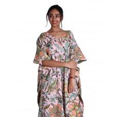 Girl Wear Cotton Kaftan