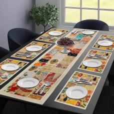 Gorgeous White Table Mat & Runner Set  (Set Of 7)