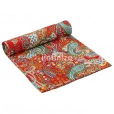 Designing Orange  Cotton Quilt