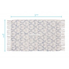 Cotton Hand  Printed  Rug