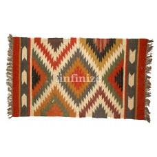 iinfinize Handwoven Wool Jute Rug