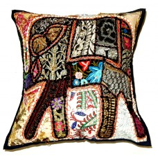 Handwoven Cotton Vintage Patch Work Cushion Cover